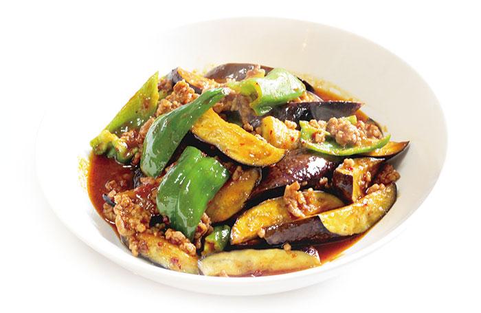 挽肉と茄子の炒め物